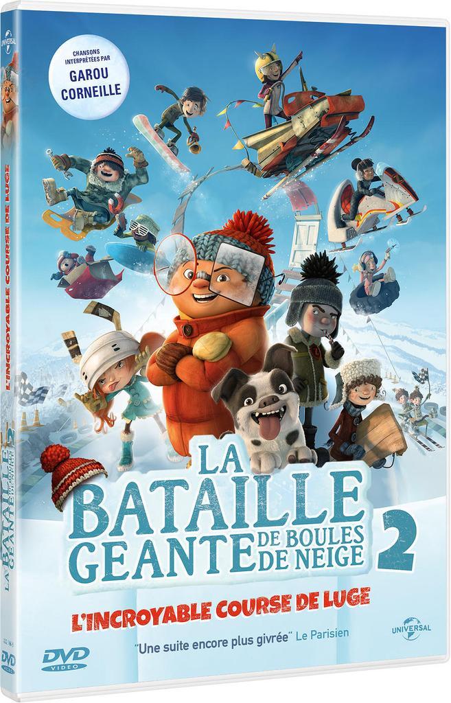 La bataille géante de boules de neige 2 : L'incroyable course de luge / Benoît Godbout, François Brisson, réal.  